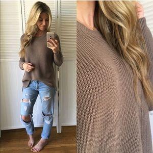 525 America Emma Crewneck Shaker Stitch Sweater